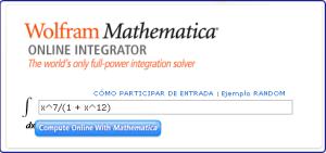 Wolfram Mathematica Online In